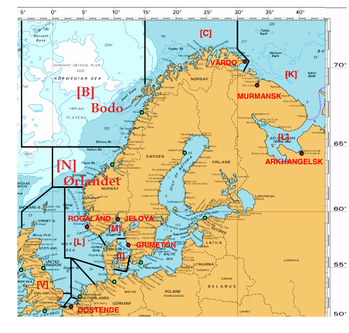 NAVTEX areas, Baltic abd Arctic 1