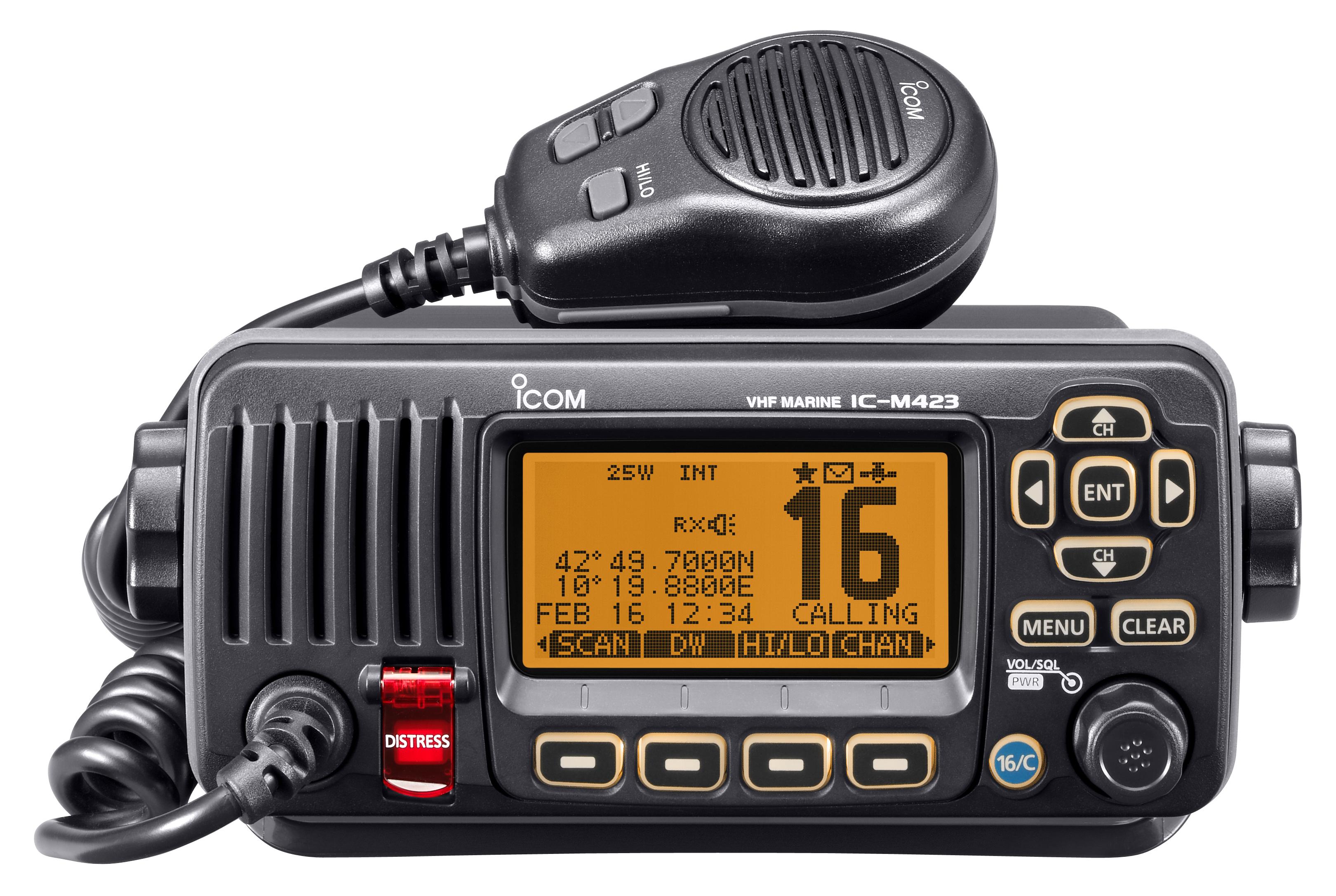 An ICOM VHF receiver)
