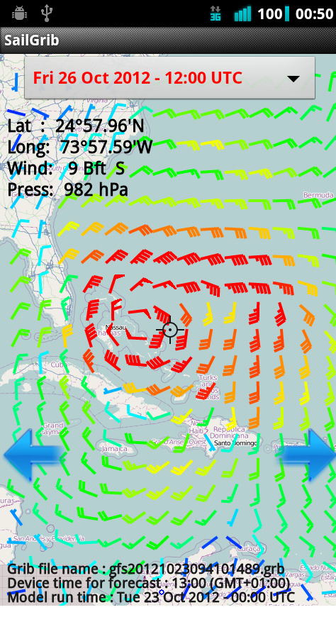 Enhanced wind display