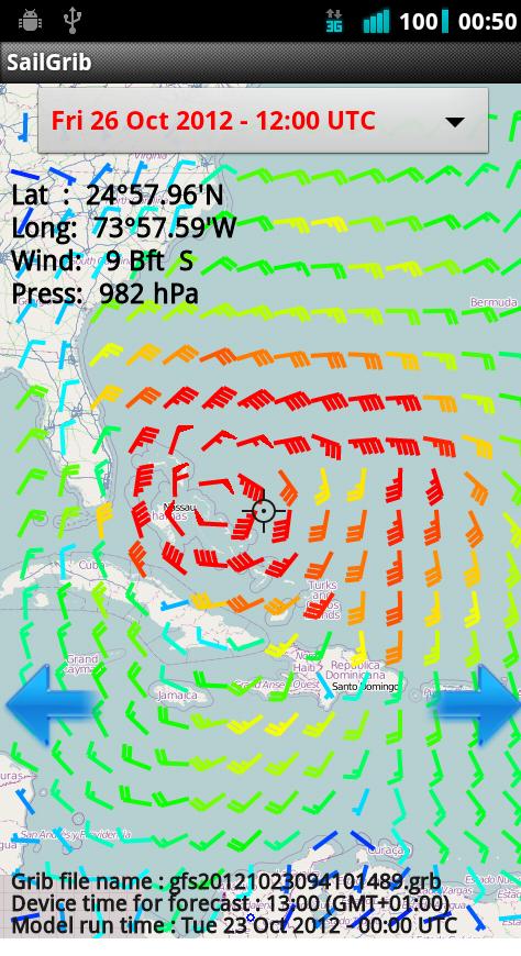 Enhanced wind display