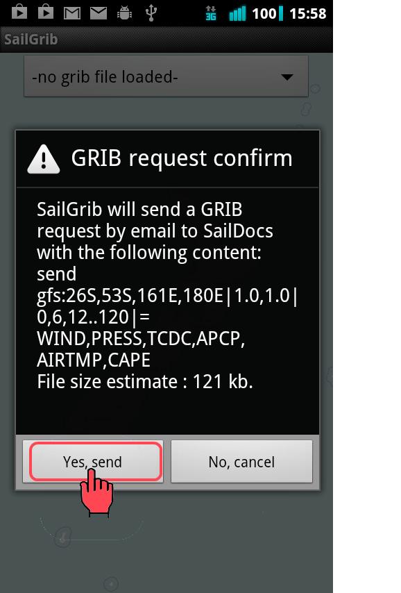 Saildocs request panel